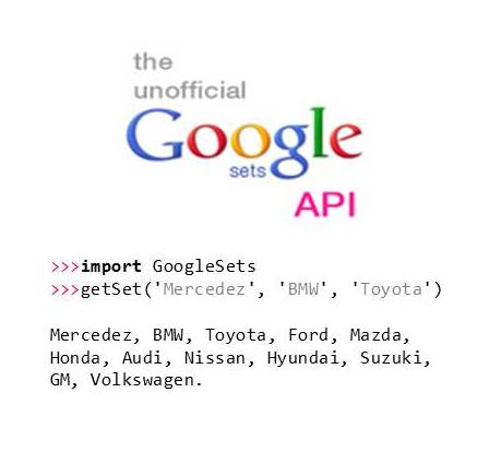 Google Sets API